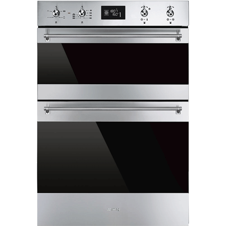 smeg DOSF6390X, 60cm Multifunction Electric Double Oven Stainless Steel