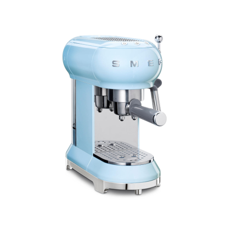 smeg ECF01PBUK, Espresso Coffee Machine in Pastel Blue