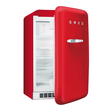 smeg FAB10HRR, Retro Freestanding Fridge Freezer Red with A+ Energy Rating