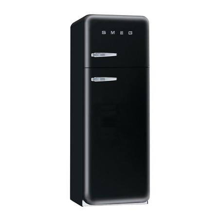 smeg FAB30RFN, Freestanding 50s Style Fridge Freezer in Black