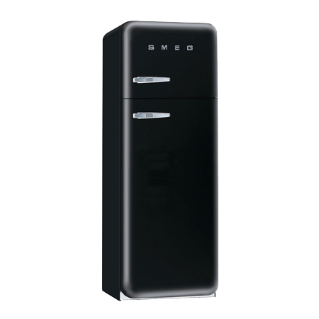 smeg FAB30RFN, Freestanding 50s Style Fridge Freezer in Black