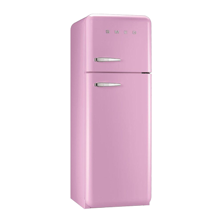 smeg FAB30RFP, 70/30 Fridge Freezer in Pink with A++ Energy Rating