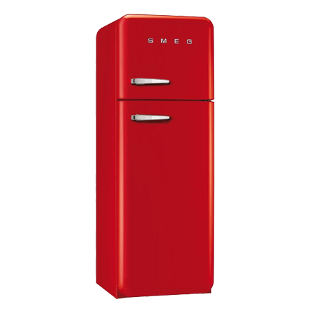 smeg FAB30RFR, 50s Retro Style Aesthetic Freestanding Fridge Freezer Red with A++ Energy Rating