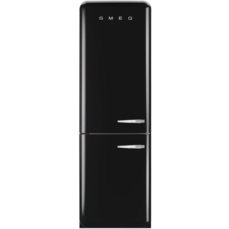 smeg FAB32LNN, 60cm Frost Free Fridge Freezer with A++ Energy Rating in Black