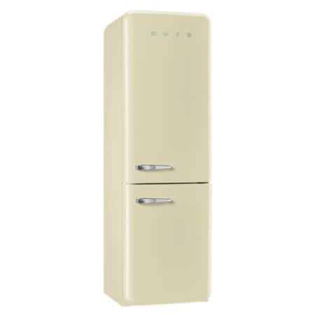 smeg FAB32RNC, Freestanding Frost Free Fridge Freezer in Cream.Ex-Display Model