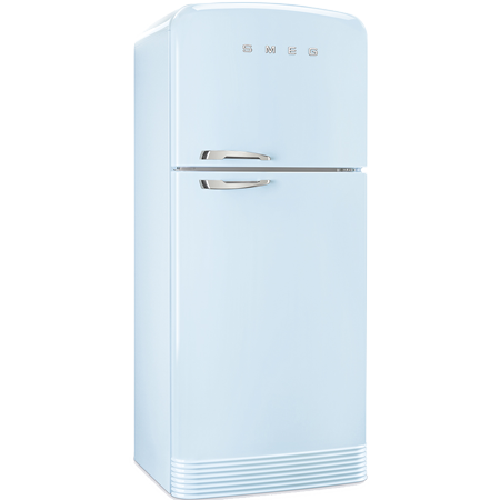 smeg FAB50RPB, Retro Top Mount Frost Free Fridge Freezer with A++ Energy Rating