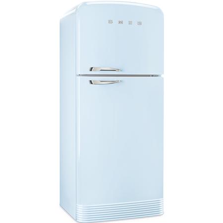 smeg FAB50RPB, Retro Top Mount Frost Free Fridge Freezer with A++ Energy Rating