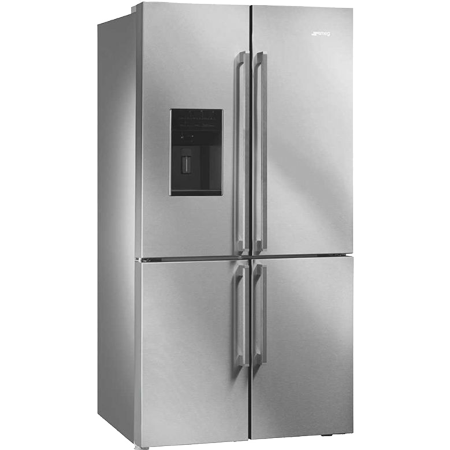 smeg FQ75XPED, US Style American Side by Side Fridge Freezer in Stainless Steel with A+ Energy Rating