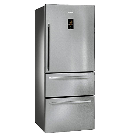 smeg FT41BXE, Freestanding Fridge Freezer with Stainless Steel doors & A+ Energy rating.
