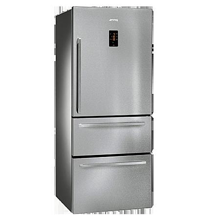 smeg FT41BXE, Freestanding Fridge Freezer with Stainless Steel doors & A+ Energy rating.