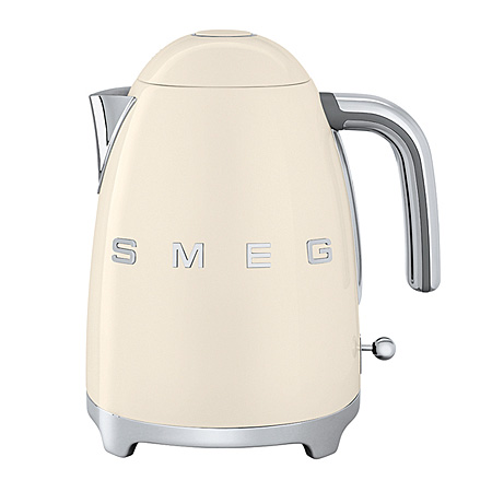 smeg KLF01CRUK, 50s Retro Style Kettle in Cream