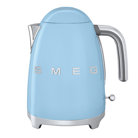 smeg KLF01PBUK, 50s Retro Style Kettle in Patel Blue