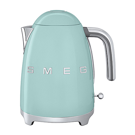 smeg KLF01PGUK, 50s Retro Style Kettle in Patel Green