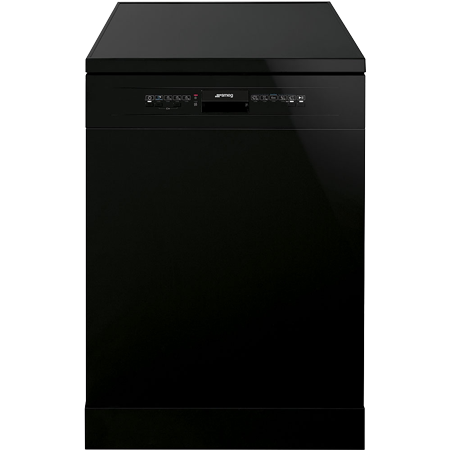 smeg LV612BLE, 60cm Dishwasher 12 Place Settings Black with A+ Energy Rating