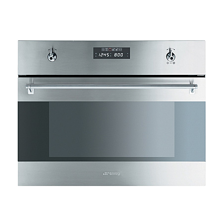 Smeg s45mx2 classic compact built in microwave combi for Small built in microwave oven