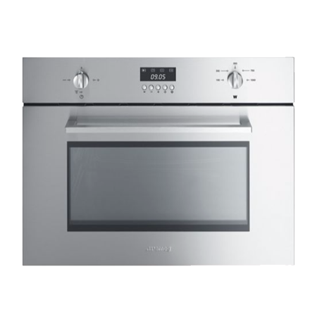 smeg SC445MX, 45cm Cucina Aesthetic  Built-In Microwave Oven Stainless Steel.Ex-Display Model