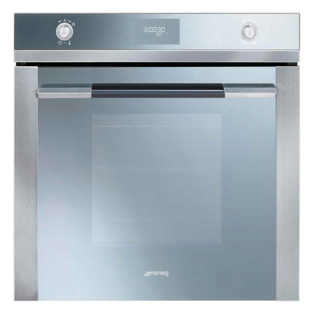 smeg SF106, Compact Multifunction Electric Double Oven SilverStainless Steel