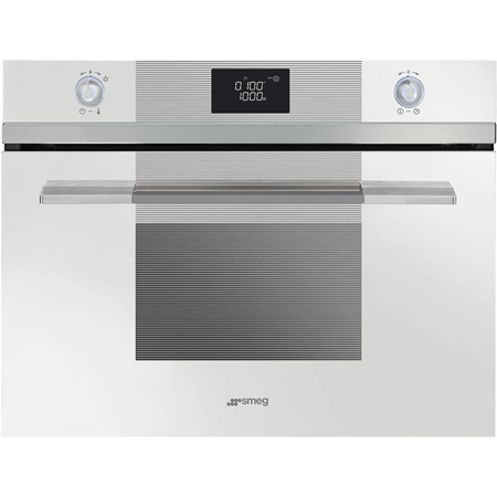 smeg SF4120MCB, Built-In Linea 45cm Microwave Combi White.Ex-Display Model
