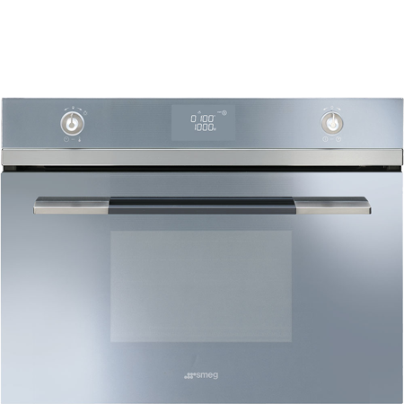 smeg SF4120MCS, Built-In 45cm Microwave Combi Silver Ex-Display Model