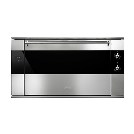 smeg SF9315XR, Classic 90cm Multifunction Electric Oven in Stainless Steel with A Rated Energy Rating