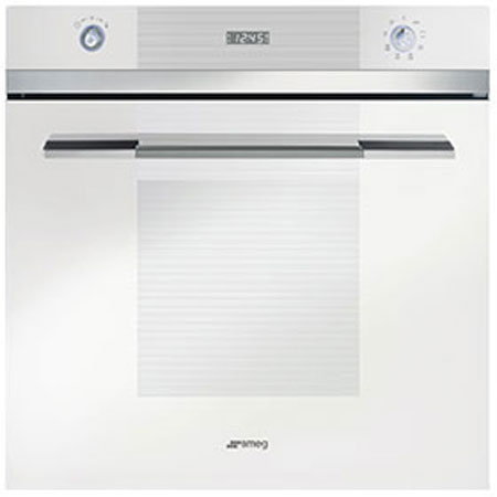 smeg SFP109B, 60cm Pyrolytic Multifunction Electric Oven White
