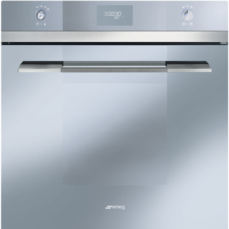 smeg SFP109S, 60cm Pyrolytic Multifunction Electric Oven Silver. Ex-Display Model