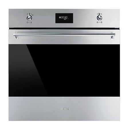 smeg SFP6378X, 60cm Classic Built-In Pyrolytic Multifunction Electric Oven Stainless Steel