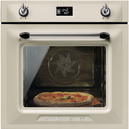 smeg SFP6925PPZE1, 60cm Single Electric Oven in Cream with A+ Energy Rating