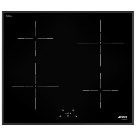 smeg SI5641B, 56cm Black Induction Hob with 4 burners with Touch Controls