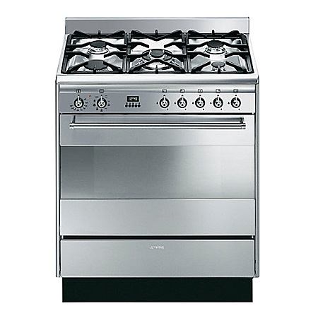 smeg SUK81MFX8, 80cm Dual Fuel Cooker Stainless Steel with Single Oven