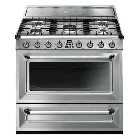 smeg TR90X9, 90cm Dual Fuel Range Cooker