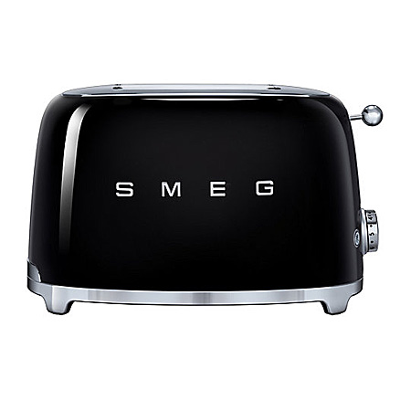 smeg TSF01BLUK, 50s Retro Style 2 Slice Toaster in Black