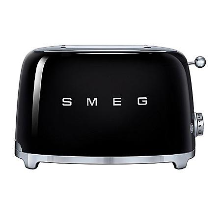 smeg TSF01BLUK, 50s Retro Style 2 Slice Toaster in Black.Ex-Display Model