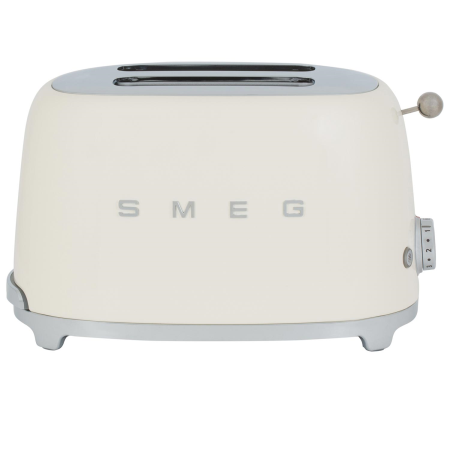 smeg TSF01CRUK, 50s Retro Style 2 Slice Toaster in Cream