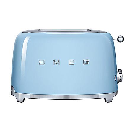 smeg TSF01PBUK, 50s Retro Style 2 Slice Toaster in Pastel Blue. Ex-Display Model.