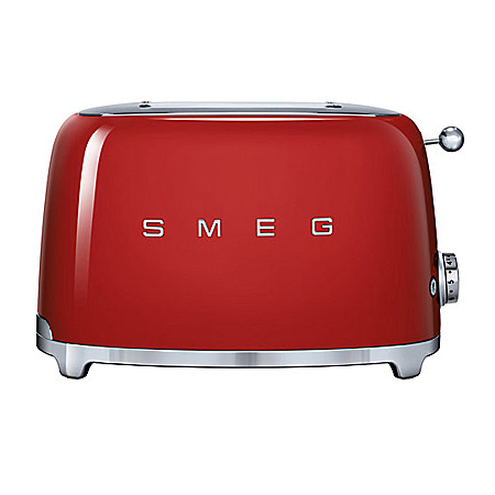 smeg TSF01RDUK, 50s Retro Style 2 Slice Toaster in Red