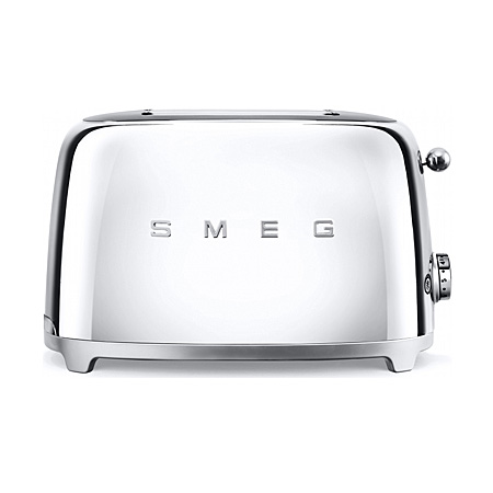 smeg TSF01SSUK, 50s Retro Style 2 Slice Toaster in Chrome