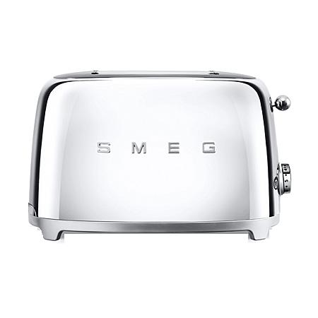 smeg TSF01SSUK, 50s Retro Style 2 Slice Toaster in Chrome