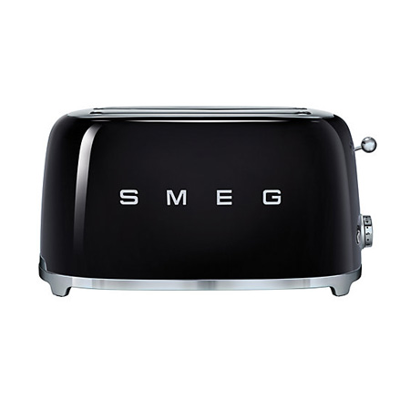 smeg TSF02BLUK, 50s Retro Style 4 Slice Toaster in Black