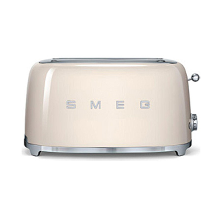 smeg TSF02CRUK, 50s Retro Style 4 Slice Toaster in Cream