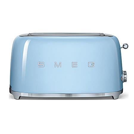 smeg TSF02PBUK, 50s Retro Style 4 Slice Toaster in Pastel Blue