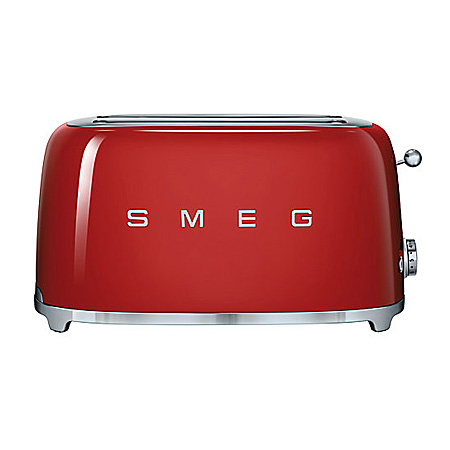 smeg TSF02RDUK, 50s Retro Style 4 Slice Toaster in Red