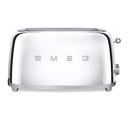 smeg TSF02SSUK, 50s Retro Style 4 Slice Toaster in Chrome