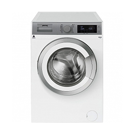 smeg WHT814LUK, Freestanding 8kg 1400rpm Washing Machine WhiteSilver - A+++ Energy Rating