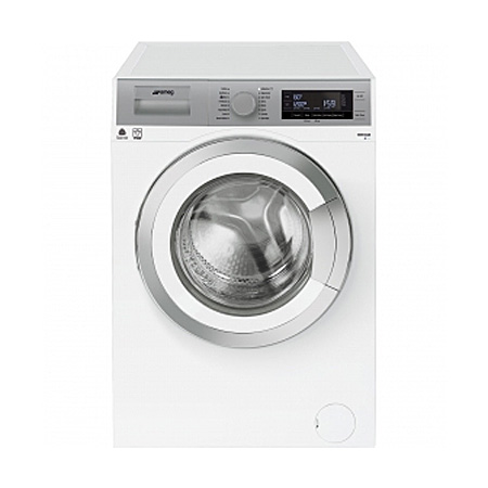 smeg WHT914LSUK,  9kg 1400rpm FreestandingWashing Machine WhiteSilver - A+++ Energy Rating.