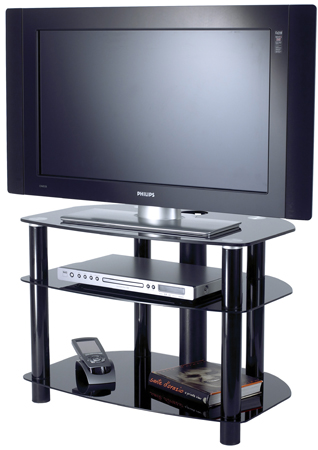 sona AVCR323BLK, 3 Shelf Support for LCD & Plasma Screens up to 32