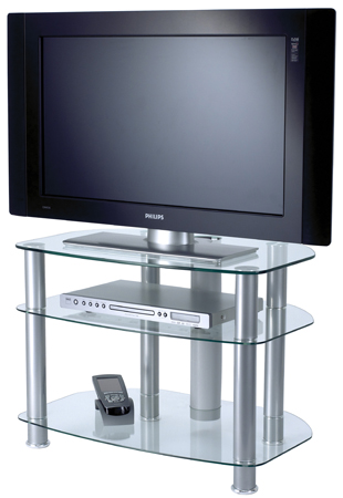sona AVCR323G, 3 Glass Shelf Support for Plasma / LCD Screens up to 32